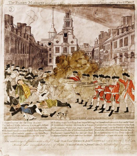 Photograph - Boston Massacre 1770 by Omikron