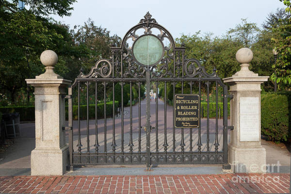 Photograph - Boston Public Garden Gate And Haffenreffer Walk by Clarence Holmes