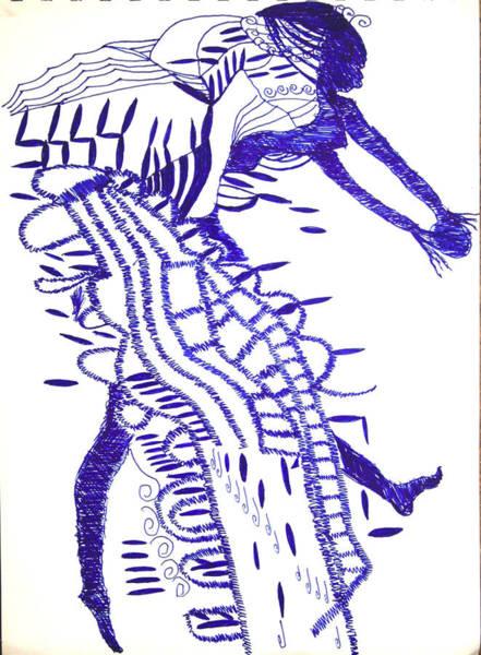 Drawing - Botswana Dance by Gloria Ssali