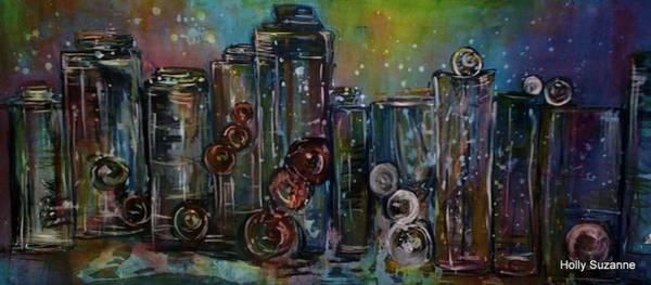Bottles And Sky Art Print