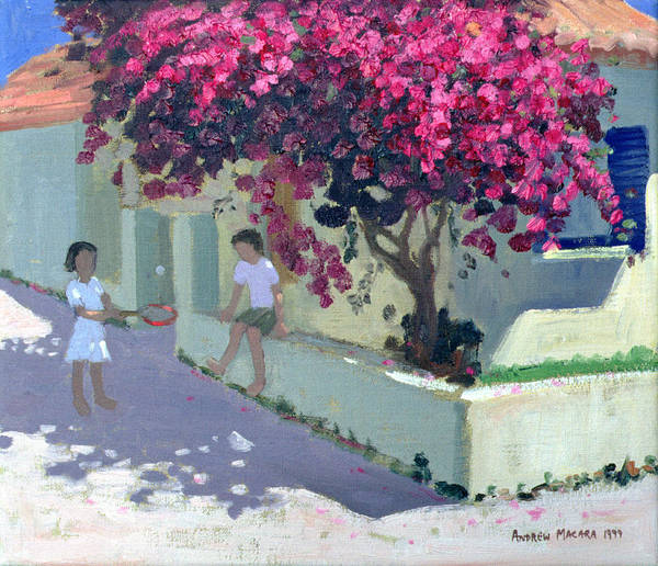 Greek House Painting - Bouganvillaea by Andrew Macara