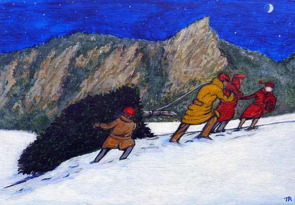 Painting - Boulder Christmas by Tom Roderick