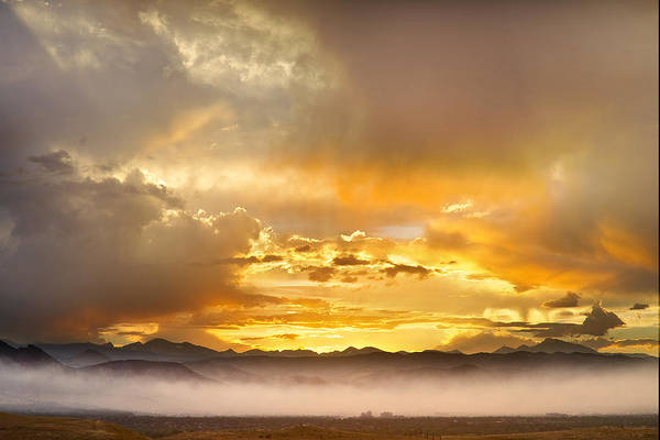 Photograph - Boulder Colorado Flagstaff Fire Sunset View by James BO Insogna