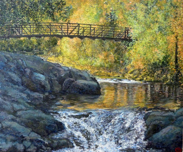 Wall Art - Painting - Boulder Creek by Tom Roderick