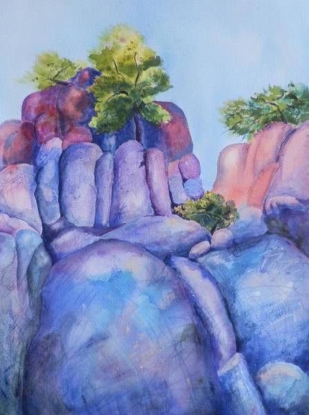 Elwood Blues Painting - Boulders by Jann Elwood