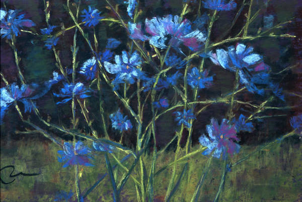 Wall Art - Painting - Bouncing Chicory by Cheryl Whitehall
