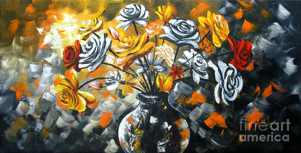 Gerbera Painting - Bouquet Of Flowers by Uma Devi