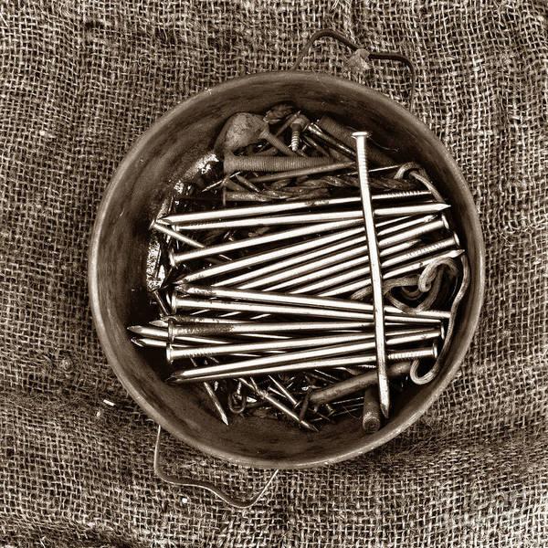 Tin Box Photograph - Box Of Tacks by Bernard Jaubert