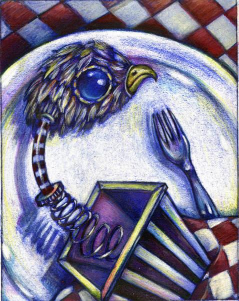 Painting - Box Spring Chicken Diner by Nada Meeks