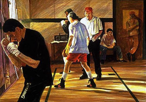Pugilism Painting - Boxers by Jim Gleeson