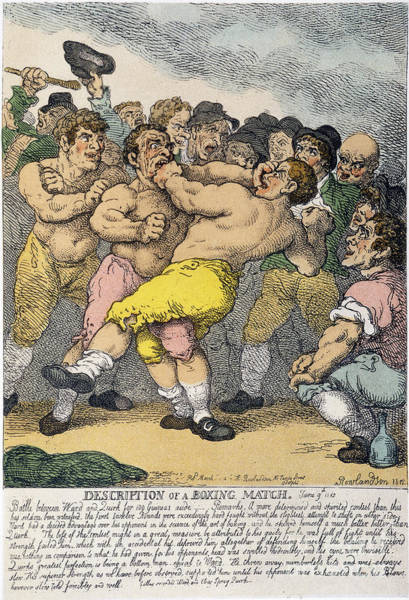 1812 Photograph - Boxing Match, 1812 by Granger