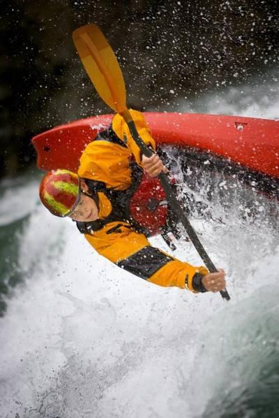 Wall Art - Photograph - Boy Kayaking by Richard Wear