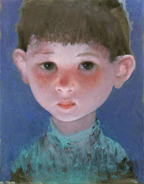Wall Art - Painting - Boy On A Blue Background 8 by Ilir Pojani