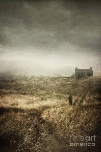 Photograph - Boy Walking Down Path Of Tall Grass by Sandra Cunningham