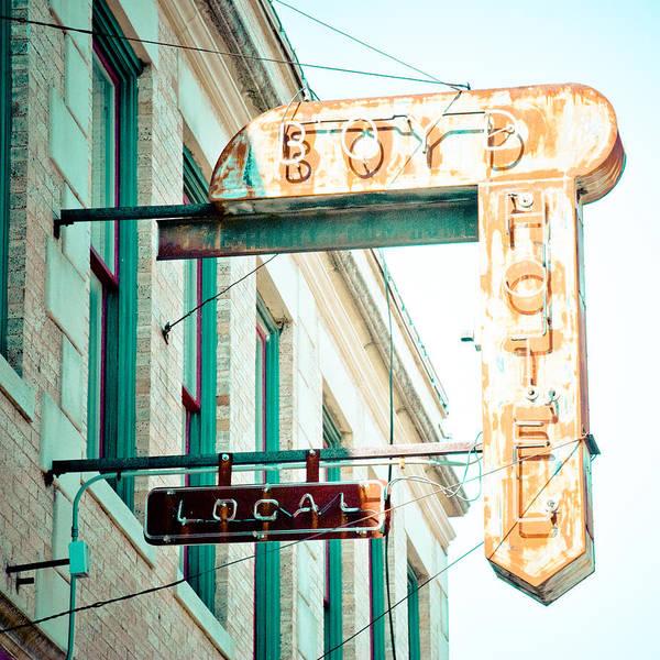 Boyd Photograph - Boyd Hotel by David Waldo
