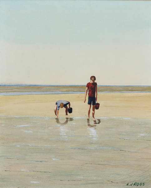 Painting - Boys Clamming by Anthony Ross