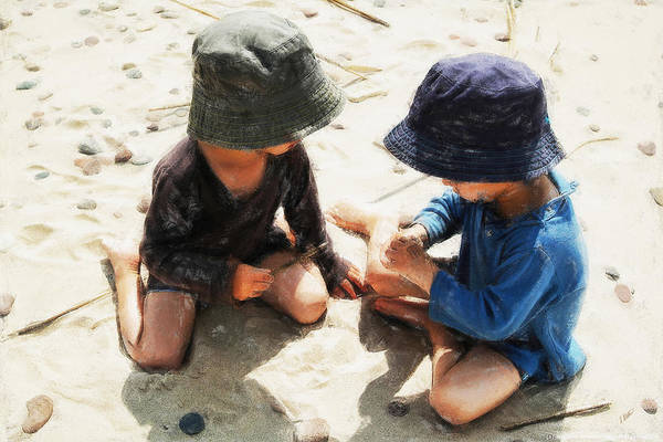Painting - Boys On Beach by Dean Wittle