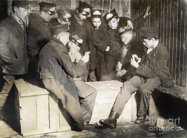 Wall Art - Photograph - Boys Playing Poker, 1909 by Granger