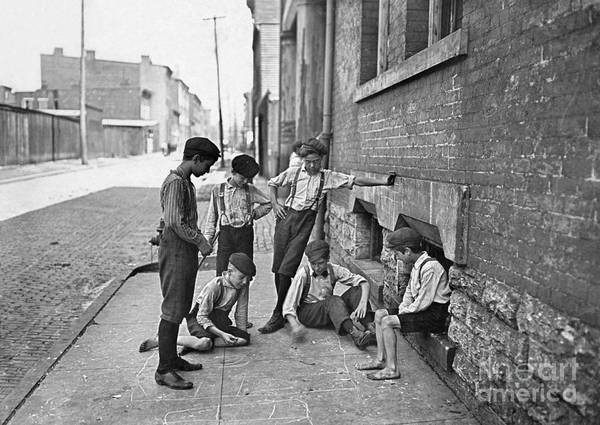 Photograph - Boys Shooting Craps, C1908 by Granger