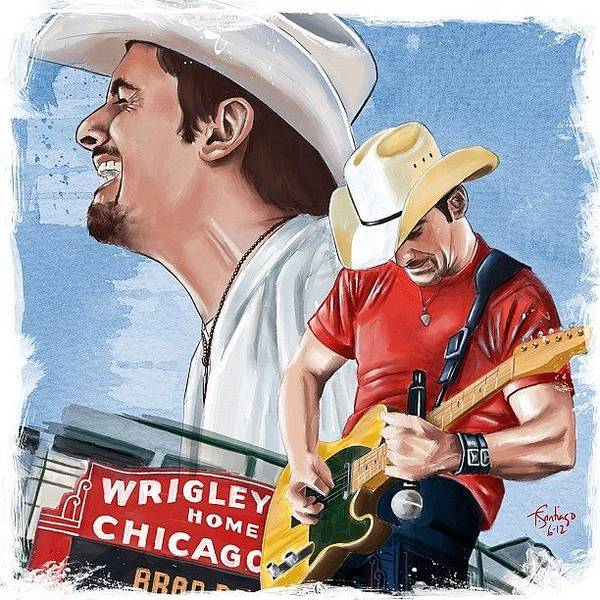 Pencil Wall Art - Photograph - Brad Paisley by Tony Santiago