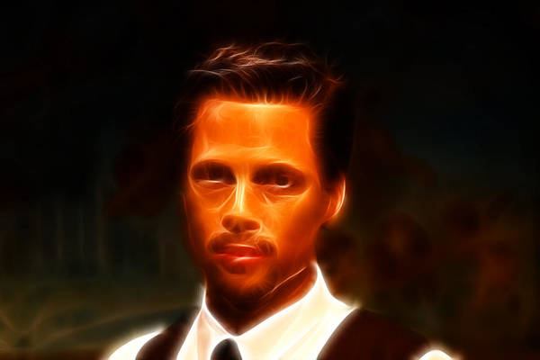 Wall Art - Photograph - Brad Pitt II  by Lee Dos Santos