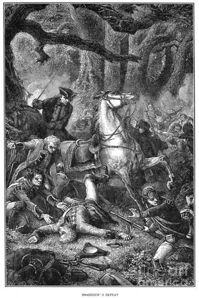 1755 Photograph - Braddocks Defeat, 1755 by Granger