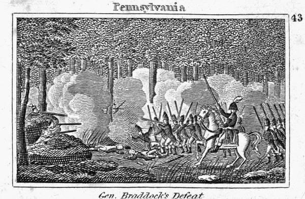 1755 Photograph - Braddocks March, 1755 by Granger