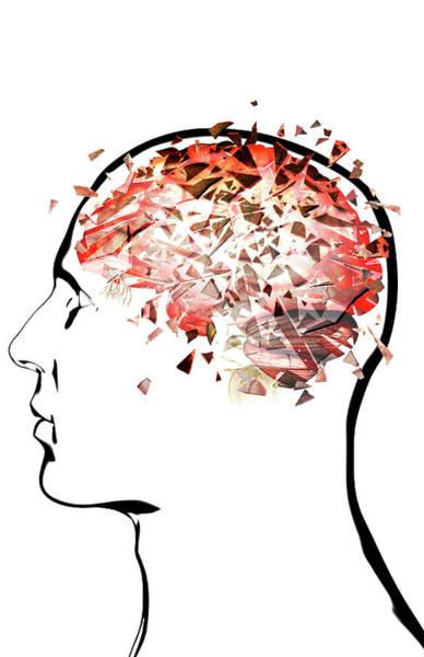 Pressure Wall Art - Digital Art - Brain Shattering by MedicalRF.com