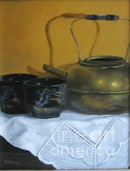 Wall Art - Painting - Brass Kettle by Patricia Lang