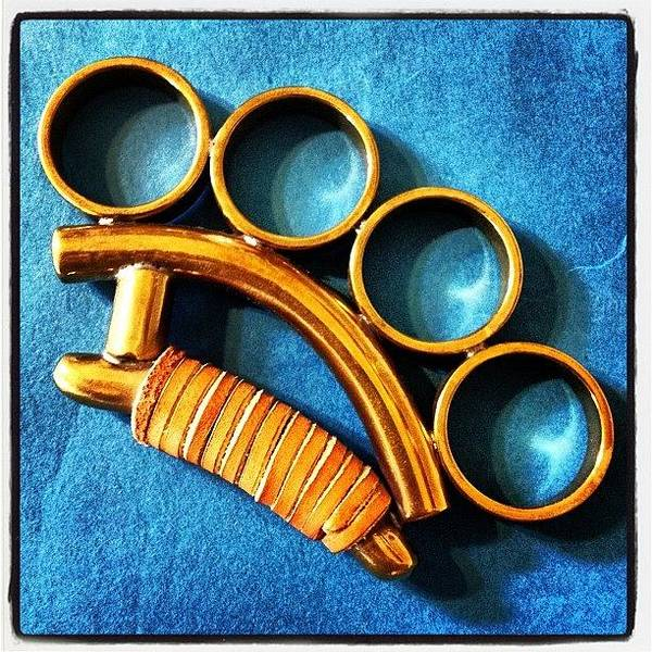 Weapon Photograph - Brass Knuckles by Ken Powers