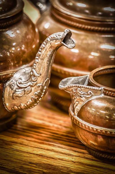Photograph - Brass Tea Pots by James Woody