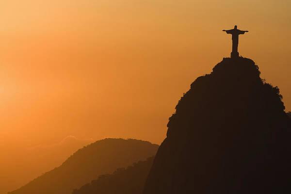 Redeemer Wall Art - Photograph - Brazil, Rio De Janeiro, Christ The Redeemer At Twilight by Zoran Milich