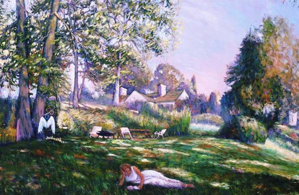 Tacoma Painting - Even Angels Need A Break by Charles Munn