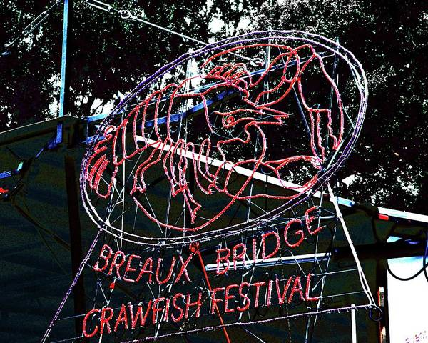 Breaux Bridge Crawfish Festival Art Print
