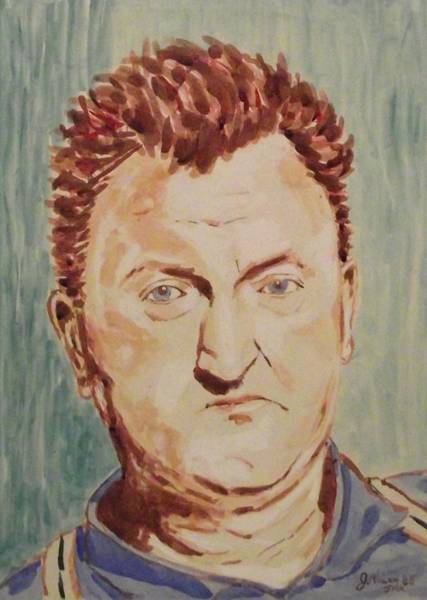 Art Paper Mixed Media - Brendan Behan by John  Nolan