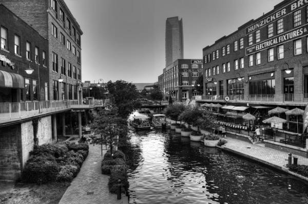 Okc Photograph - Bricktown Canal by Ricky Barnard