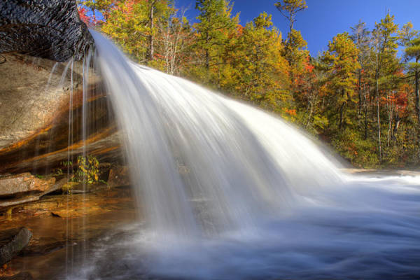 Mohican Photograph - Bridal Veil Fall In Dupont State Forest Nc by Pierre Leclerc Photography