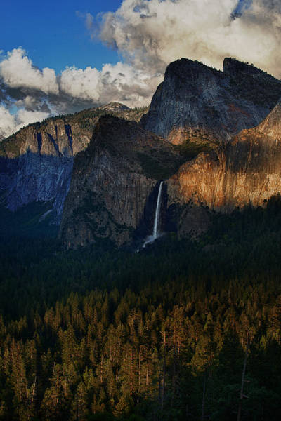 Bridalveil Falls At Sunset Art Print