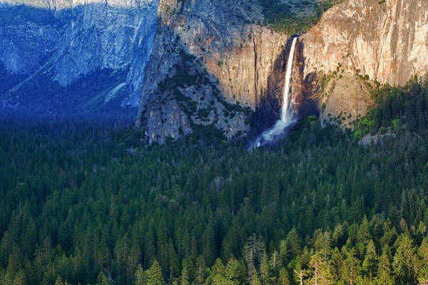 Bridalveil Falls In The Spotlight Art Print