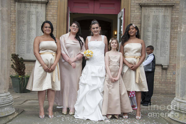 Wall Art - Photograph - Bride And Maids No40 by Donald Davis