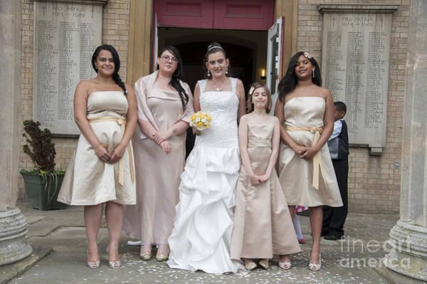Wall Art - Photograph - Bride And Maids No41 by Donald Davis