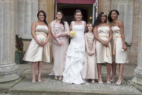 Wall Art - Photograph - Bride And Maids No42 by Donald Davis