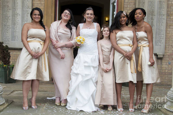 Wall Art - Photograph - Bride And Maids No44 by Donald Davis