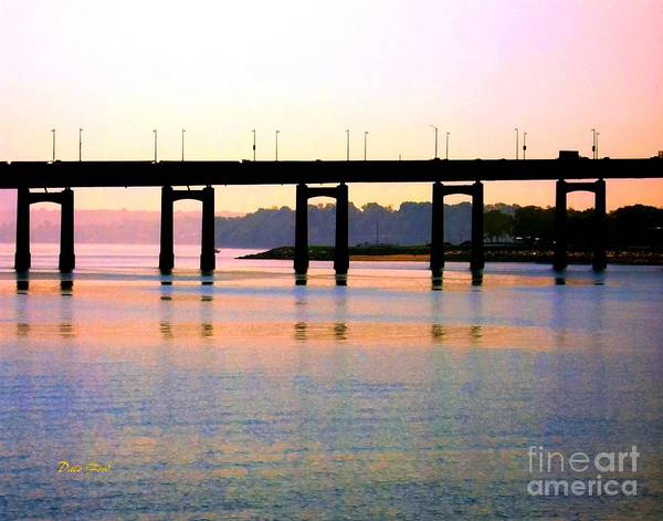 Digital Art - Bridge At Sunset by Dale   Ford