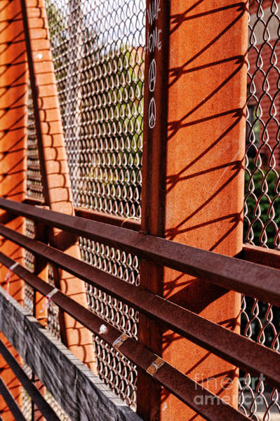 Chain Link Photograph - Bridge Detail by HD Connelly