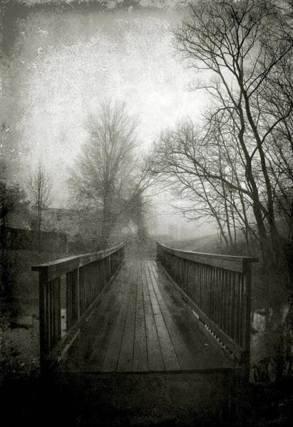 Subdivision Photograph - Bridge In Fog by Steven Ainsworth