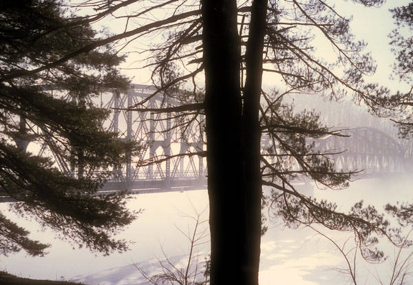 Photograph - Bridge In The Fog by Mark Dodd