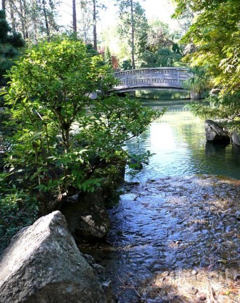 Spokane Digital Art - Bridge In The Japanese Garden by Terri Thompson