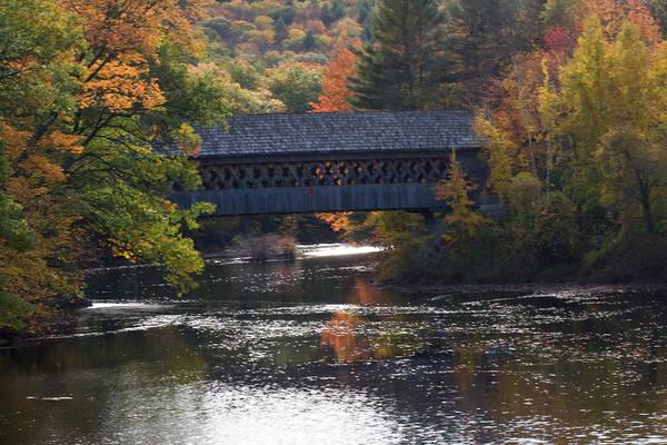 Henniker Photograph - Bridge Into Autumn by April Bielefeldt
