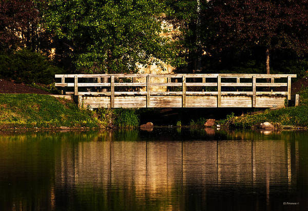 Photograph - Bridge Over Quiet Water by Edward Peterson